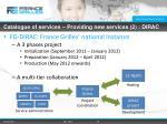 catalogue of services providing new services 2 dirac