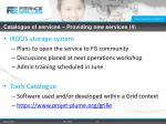 catalogue of services providing new services 4