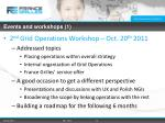 events and workshops 1
