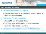 next activities on clouds