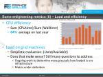 some enlightening metrics 6 load and efficiency
