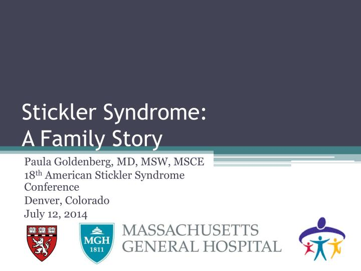 stickler syndrome a family story n.