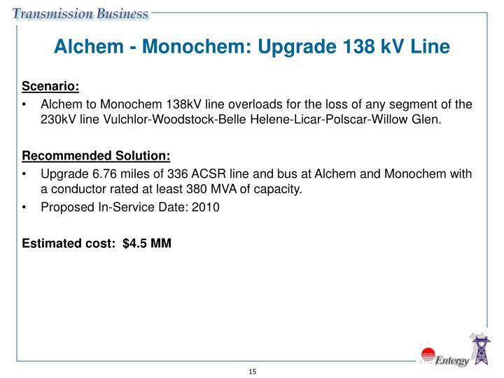 Alchem - Monochem: Upgrade 138 kV Line