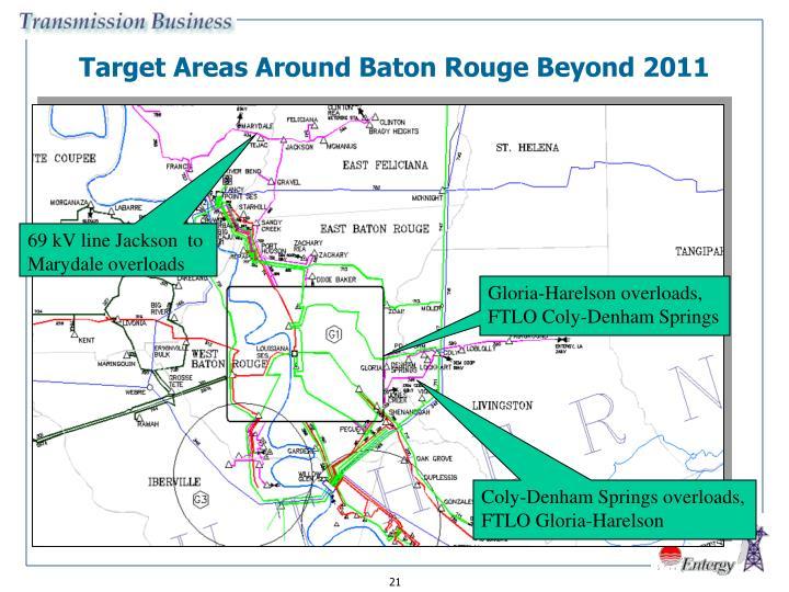 Target Areas Around Baton Rouge Beyond 2011