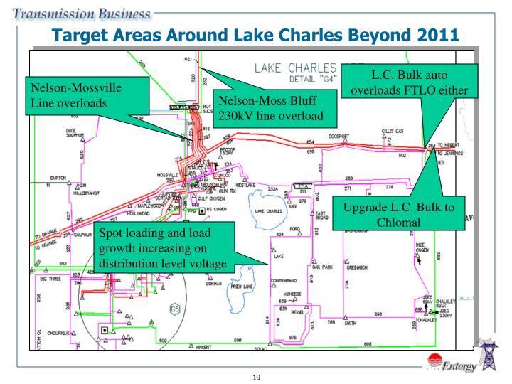 Target Areas Around Lake Charles Beyond 2011
