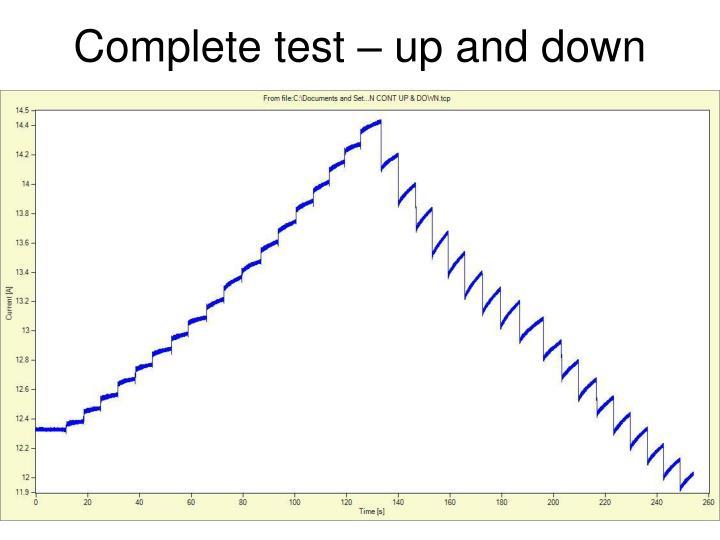 Complete test – up and down