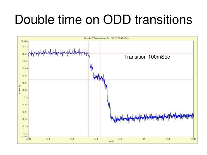 Double time on ODD transitions