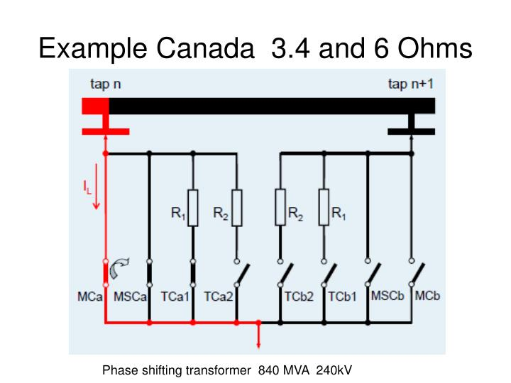 Example canada 3 4 and 6 ohms
