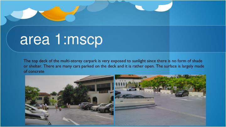 Area 1 mscp