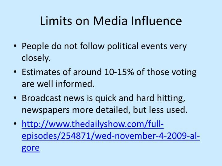 Limits on Media Influence
