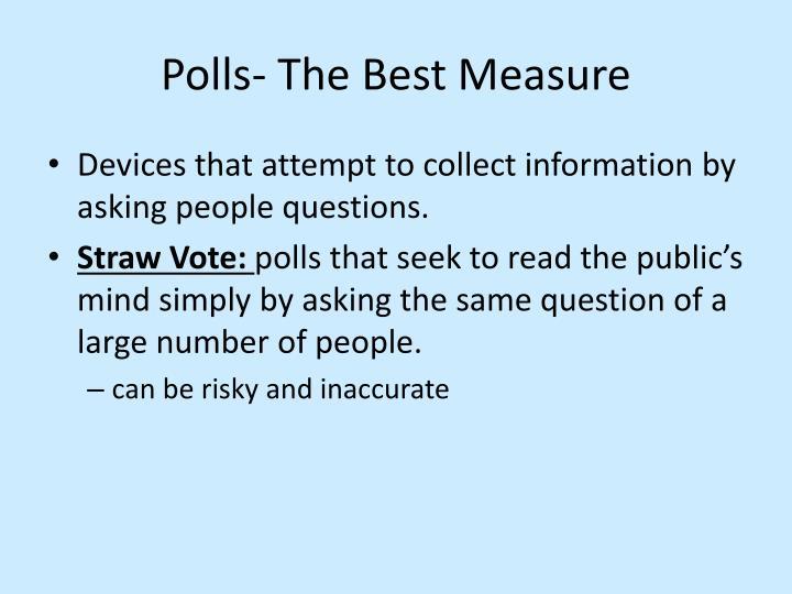 Polls- The Best Measure