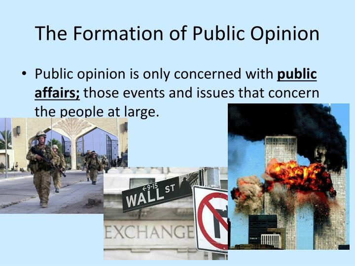 The formation of public opinion1