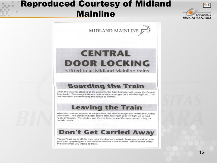 Reproduced Courtesy of Midland Mainline