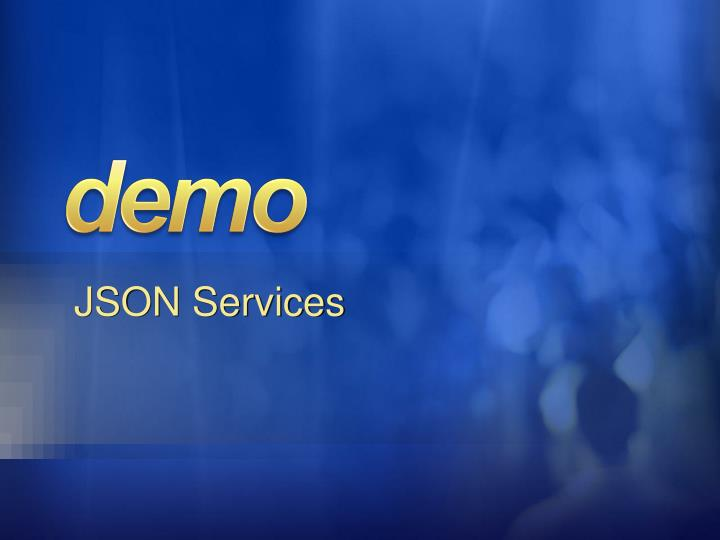 JSON Services