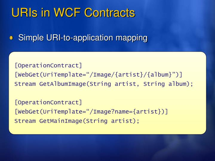 Simple URI-to-application mapping