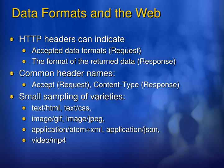 HTTP headers can indicate