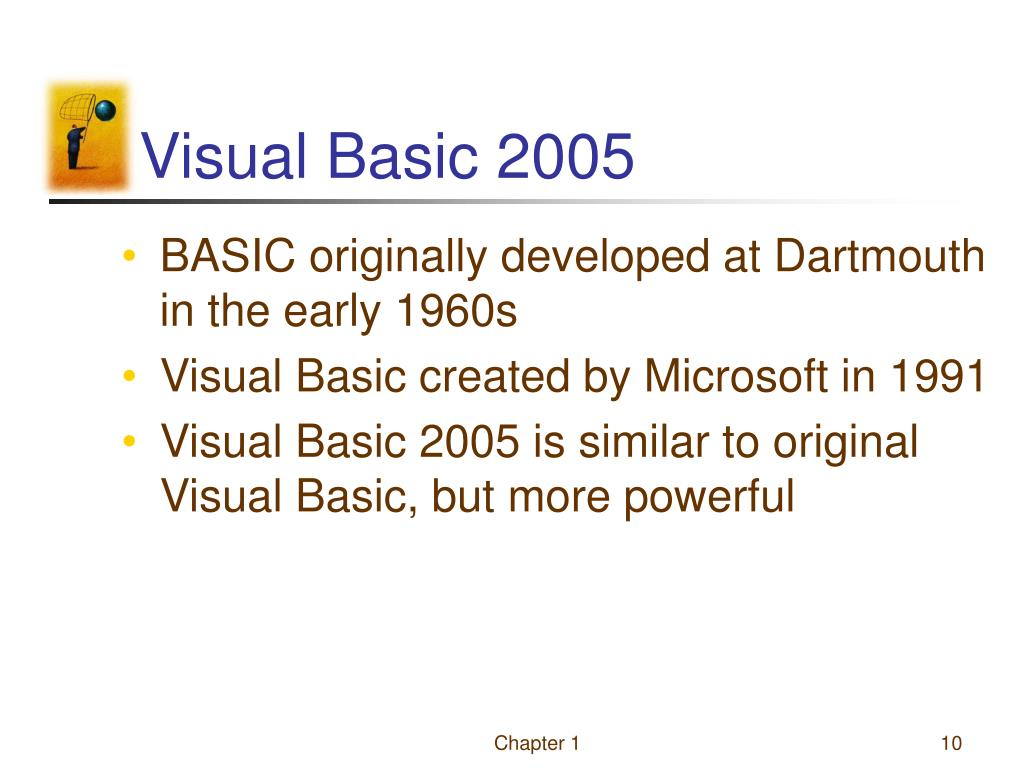 PPT - An Introduction to Visual Basic 2005 PowerPoint
