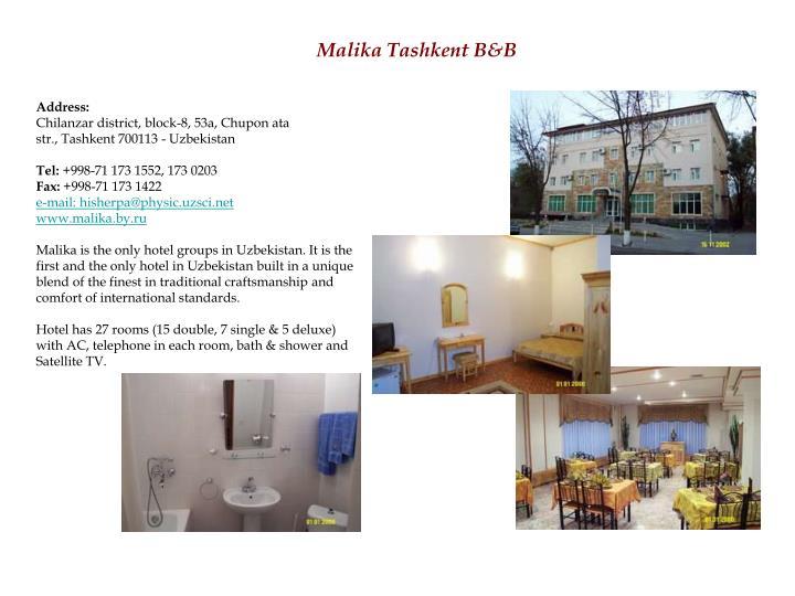 Malika Tashkent B&B