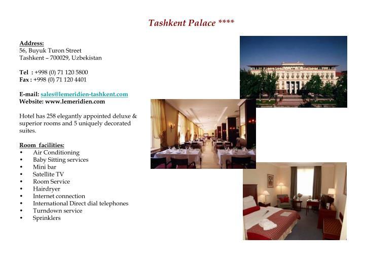 Tashkent palace