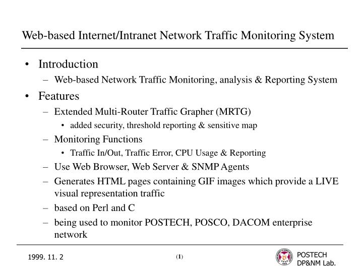 Ppt Web Based Internet Intranet Network Traffic Monitoring System