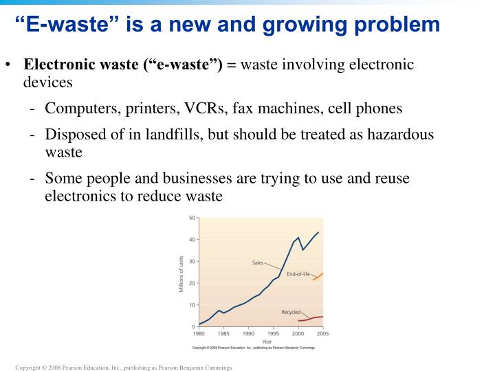 """""""E-waste"""" is a new and growing problem"""