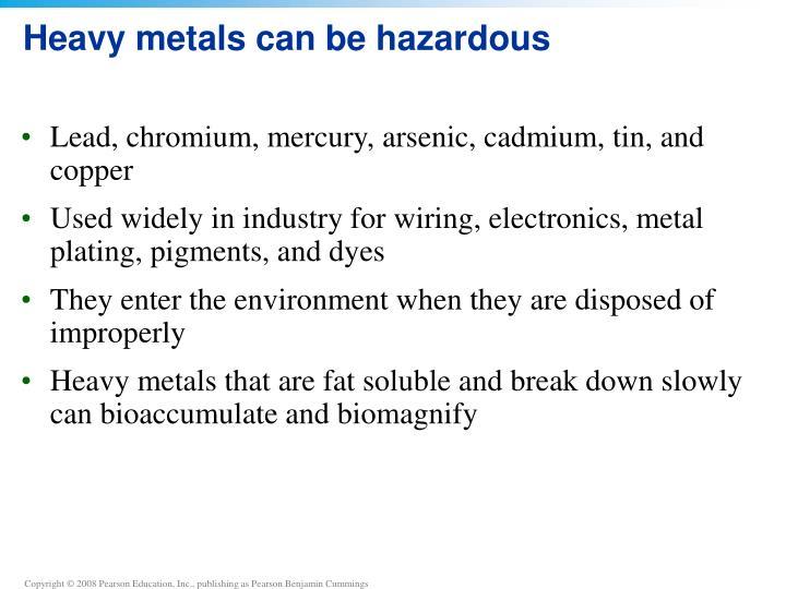 Heavy metals can be hazardous