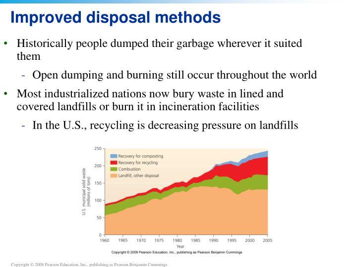Improved disposal methods