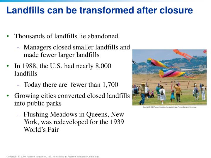Landfills can be transformed after closure