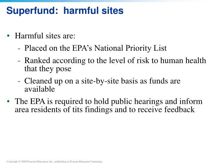 Superfund:  harmful sites
