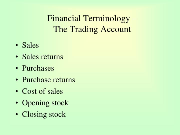 Financial Terminology –