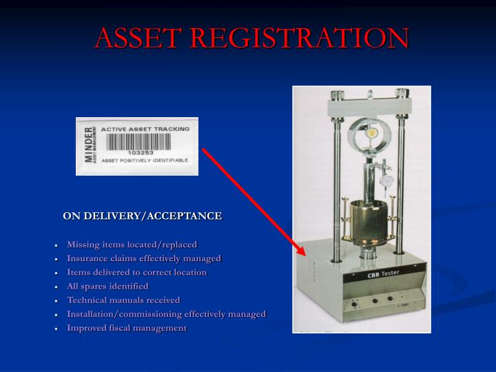 ASSET REGISTRATION