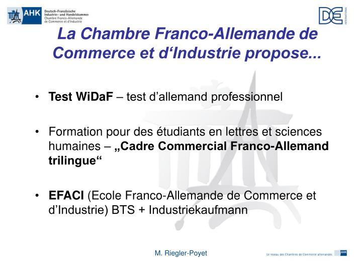 Ppt les relations conomiques franco allemandes chambre - Formation chambre de commerce ...