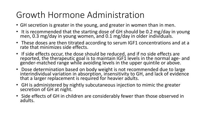 Growth Hormone Administration