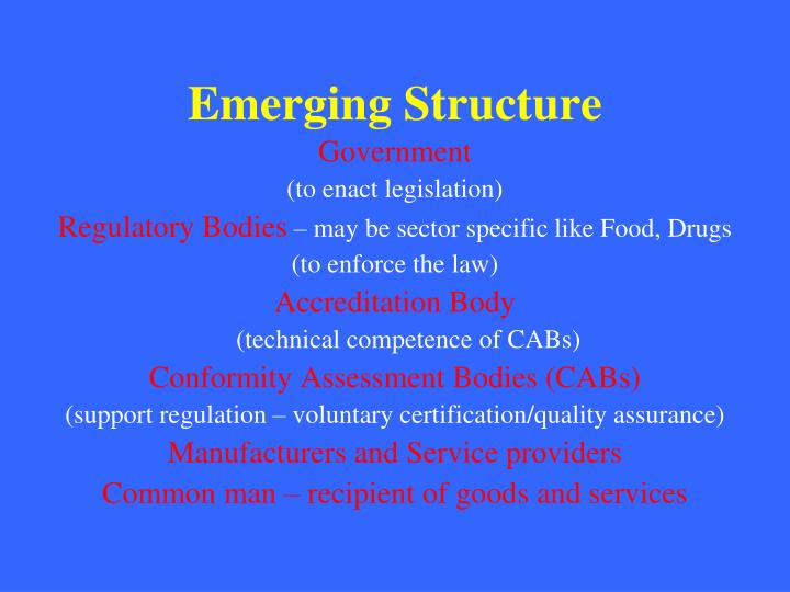 Emerging Structure