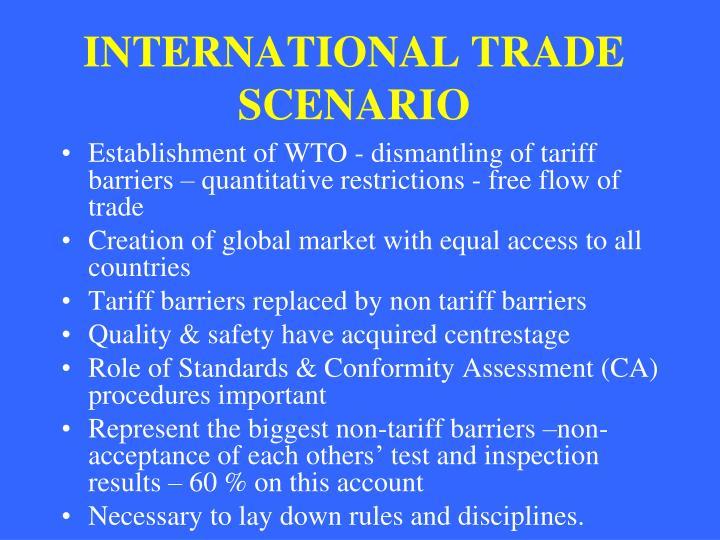 International trade scenario