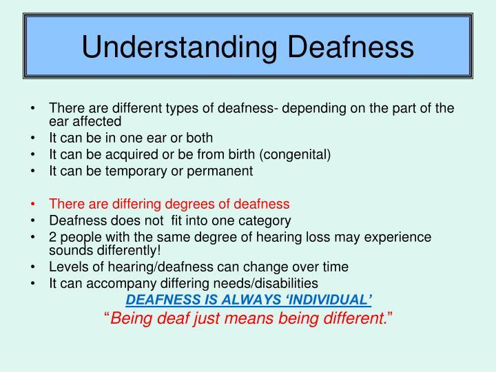 Understanding Deafness