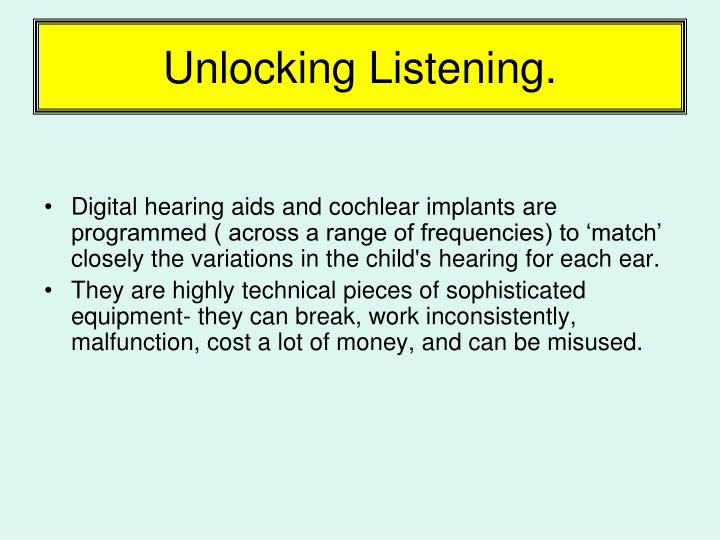 Unlocking Listening.