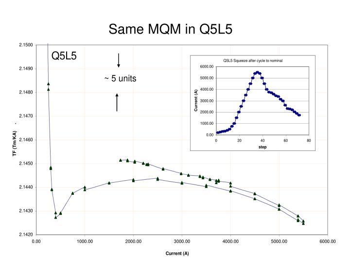 Same MQM in Q5L5