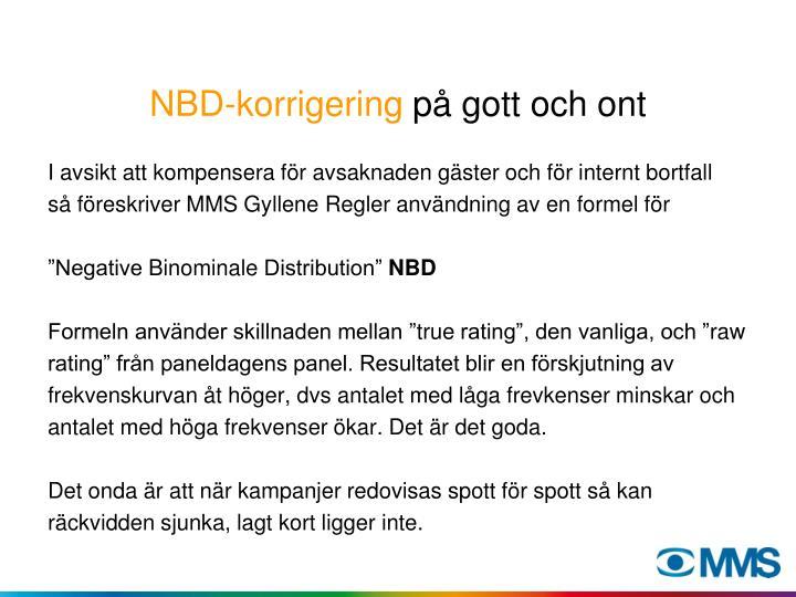 NBD-korrigering