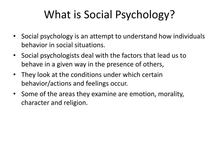 What is Social Psychology?