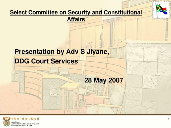 select committee on security and constitutional affairs n.