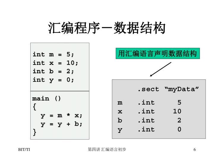 汇编程序-数据结构
