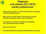 diagnoza rok szkolny 2011 2012 szko y podstawowe