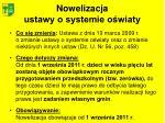 nowelizacja ustawy o systemie o wiaty