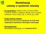 nowelizacja ustawy o systemie o wiaty1