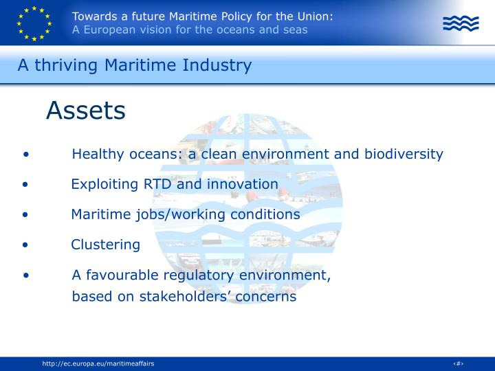 A thriving Maritime Industry