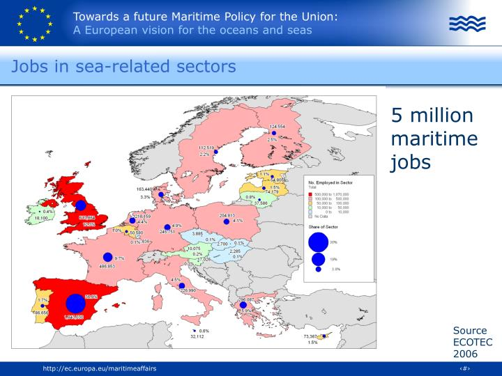 Jobs in sea-related sectors