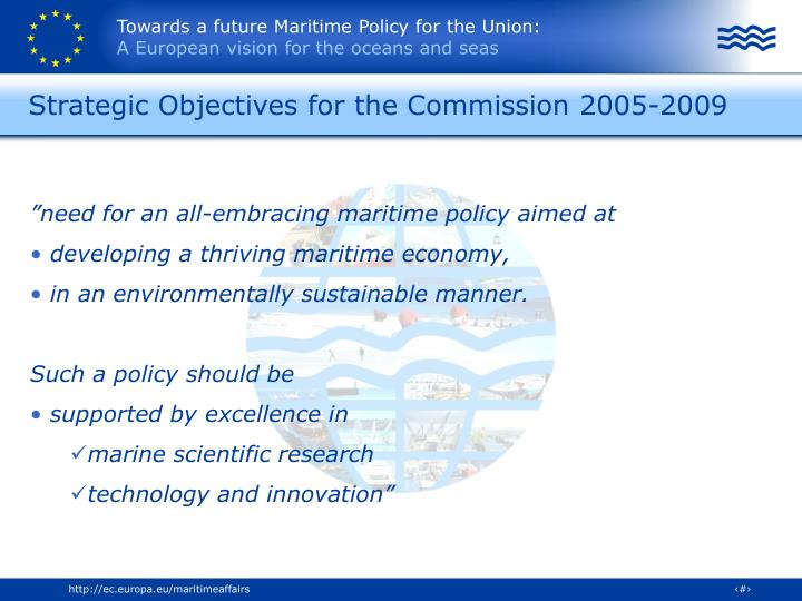 Strategic objectives for the commission 2005 2009