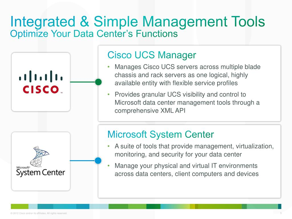 PPT - Managing Microsoft Applications with Cisco UCS Manager