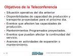 objetivos de la teleconferencia